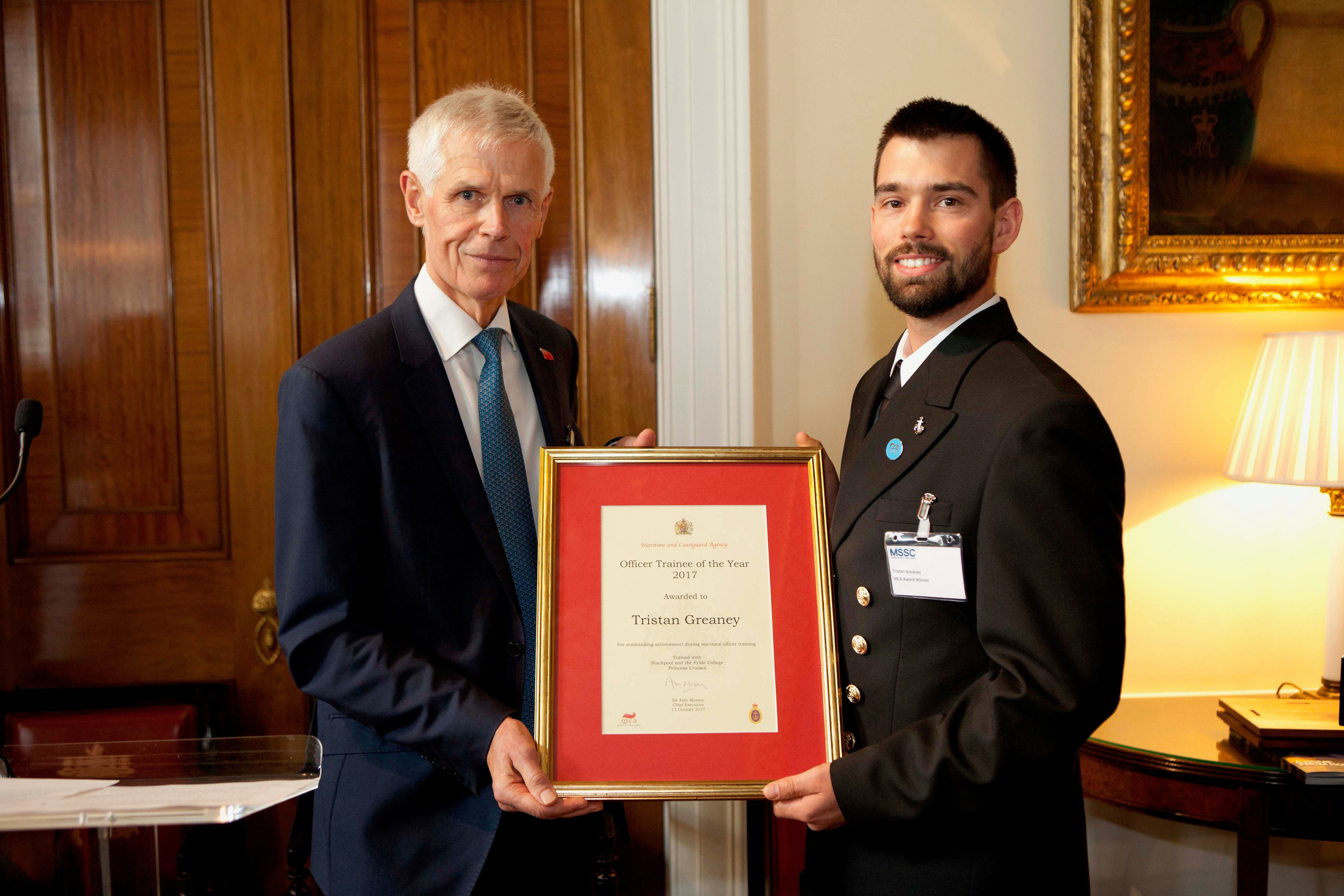 MCA Officer Trainee of the Year honoured at awards ceremony