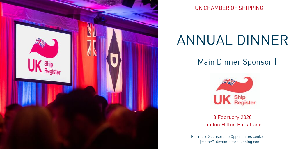 Sponsorship of UK Chamber of Shipping Dinner